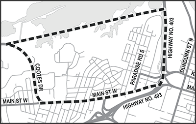 Location map for Westdale Neighbourhood Traffic Management