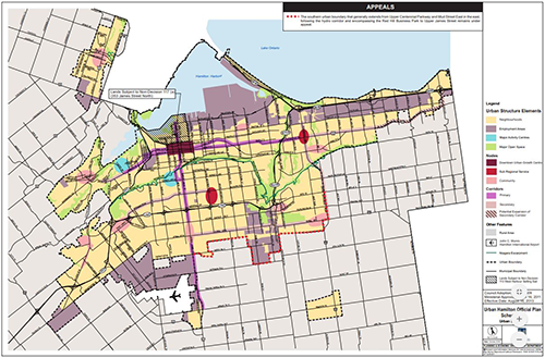 Thumbnail of Urban Structure Map from Urban Hamilton Official Plan