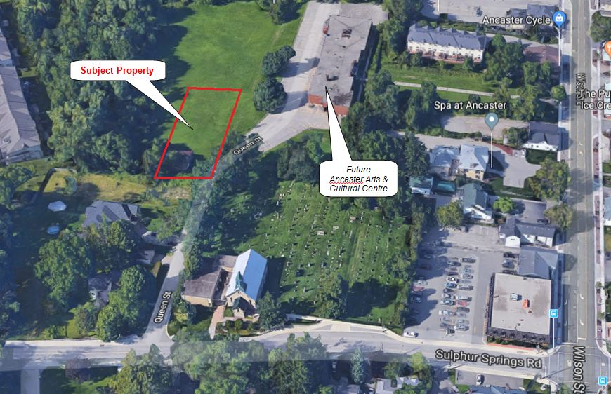 Location map for 30 Queen Street, Ancaster