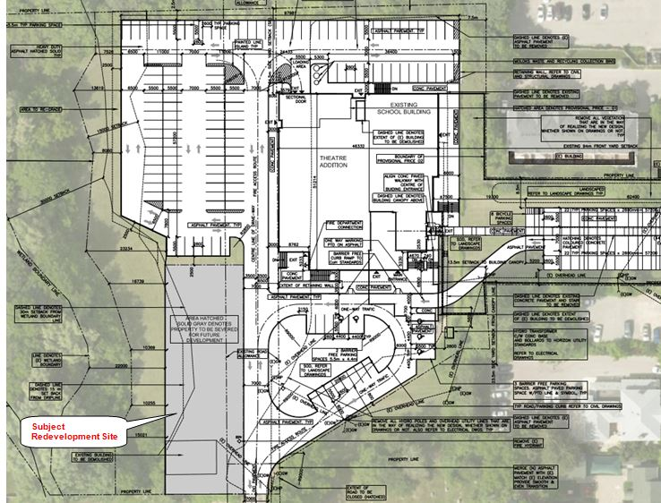 Proposed Site Plan for Property for Redevelopment: 30 Queen Street, Ancaster