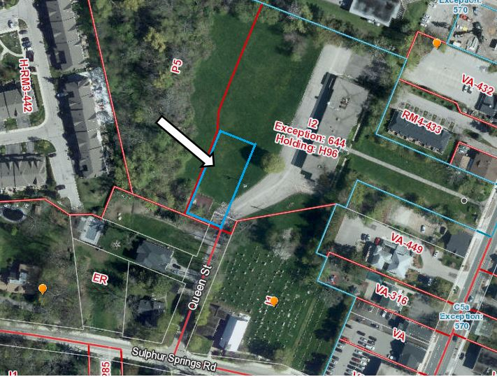Zoning map for Property for Redevelopment: 30 Queen Street, Ancaster