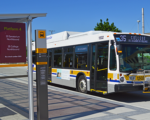 35 - COLLEGE HSR Bus at Mohawk Terminal