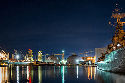 Hamilton Port at Night by Tricia Shulist