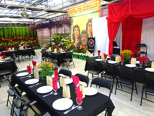 Fall Garden & Mum Show corporate event space with banquet tables