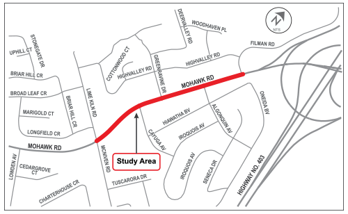 Location map for Mohawk Road EA