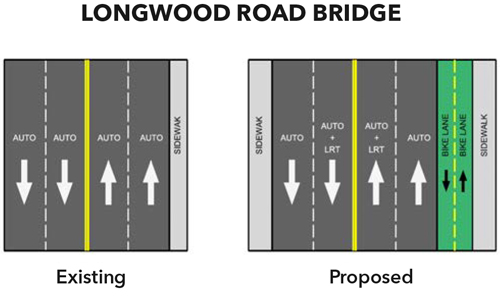 LRT Longwood road bridge proposed graphic