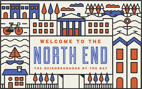 Thumbnail of Matt Fletcher's Proposed Neighbourhood Sign for the North End Neighbourhood