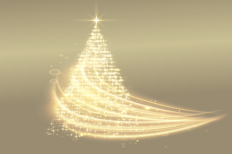 Illustration of a christmas tree made of stars
