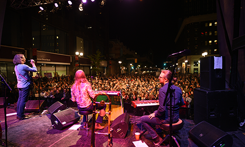 Image of crowd from the stage at SuperCrawl