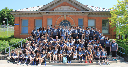 St. Thomas Moore Student Volunteers at the Hamilton Children's Water Festival