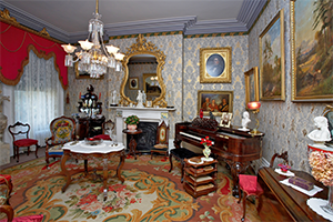 Interior room at Whitehern Historic Site
