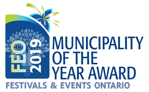 Festivals & Events Ontario Municipality of the Year Award logo