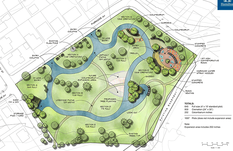 Image map of new Parkside Cemetery