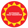 Extended heat warning icon