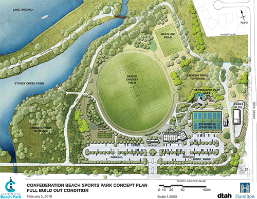 Rendering of the proposed changes to Confederation Beach Park
