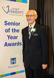 Walter Decker, 2019 Senior of the Year Healthy and Active Living Award Winner