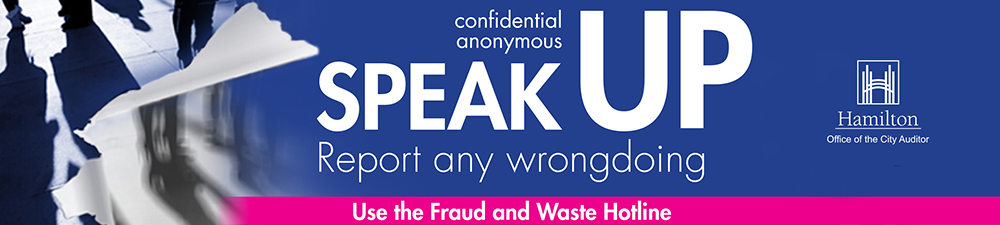 Speak Up report fraud and waste