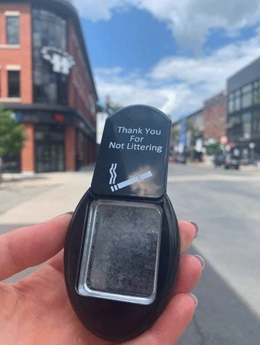 City of hamilton thank you for not littering ashtray