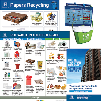 Examples of recyclng materials for property owners, managers and superintendents