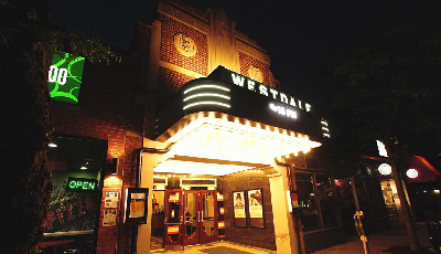 Front view of the Westdale Theater