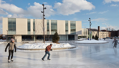 Exterior view of Bernie Morelli Recreation Centre Skating Pad
