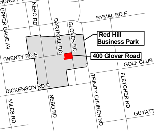 Map of 400 Glover Road, Hamilton