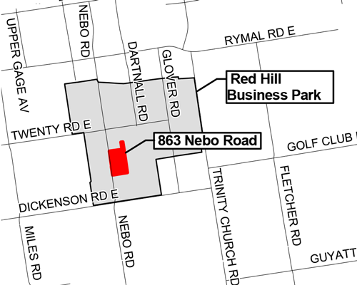 Map of 863 Nebo Road, Hamilton