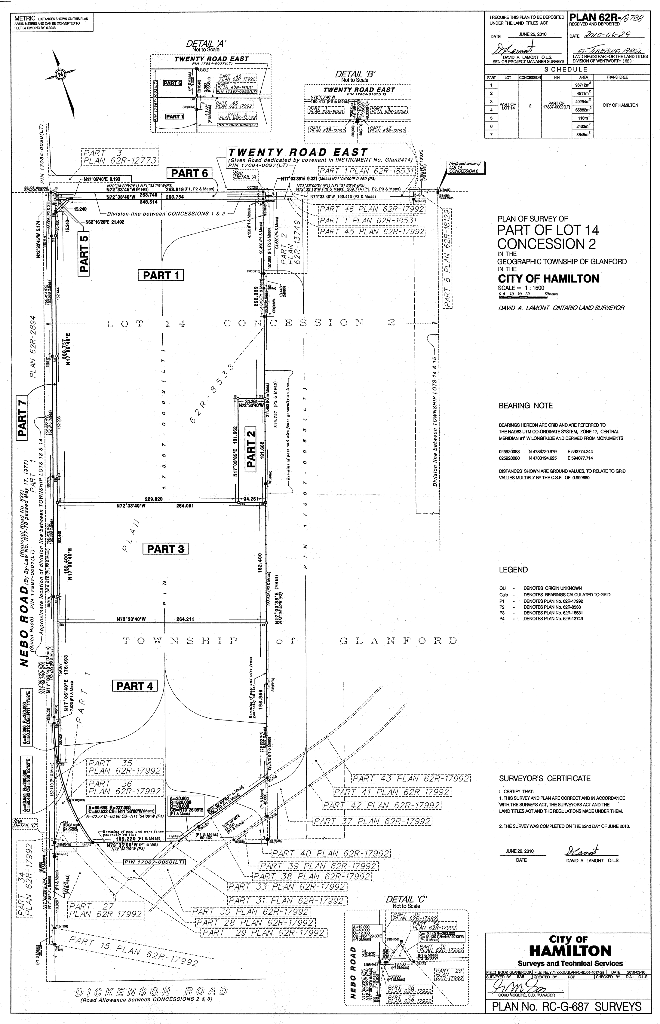 Registered Plan for 863 Nebo Road,  Hamilton