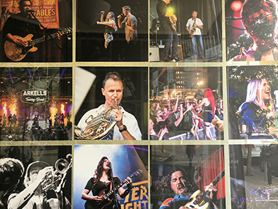 Collection of photos by Nelson Nash of live concerts in Hamilton