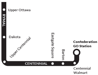Map of HSR Route 44 - RYMAL ROAD