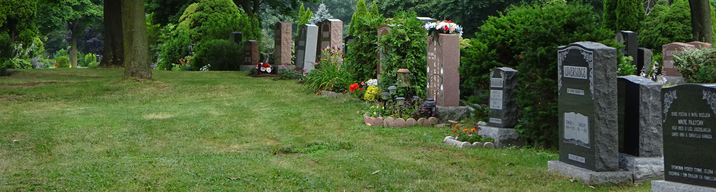 Image of cemetery burial plots