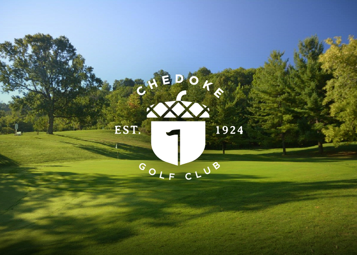 Chedoke golf logo over image of course