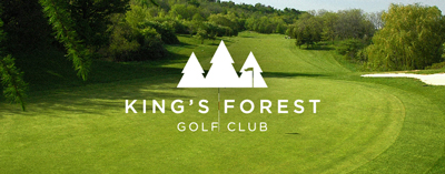Kings  Forest course with logo