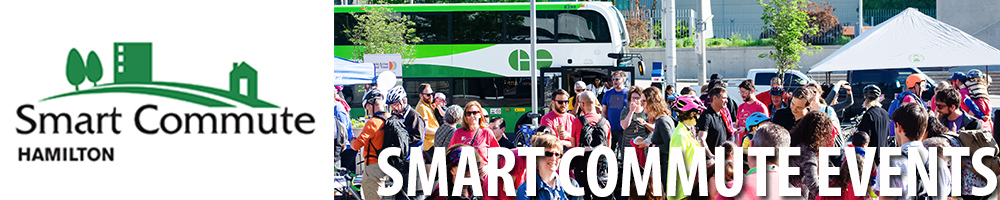 Collage of people attending Smart Commute Events