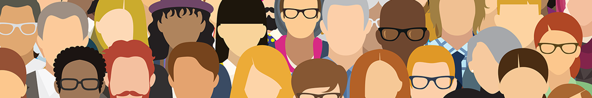 Illustration of a group of diverse people
