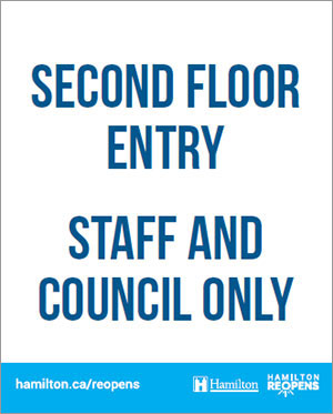 Example of City Hall COVID signage