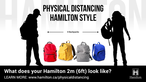 Physical Distancing 4 Backpacks
