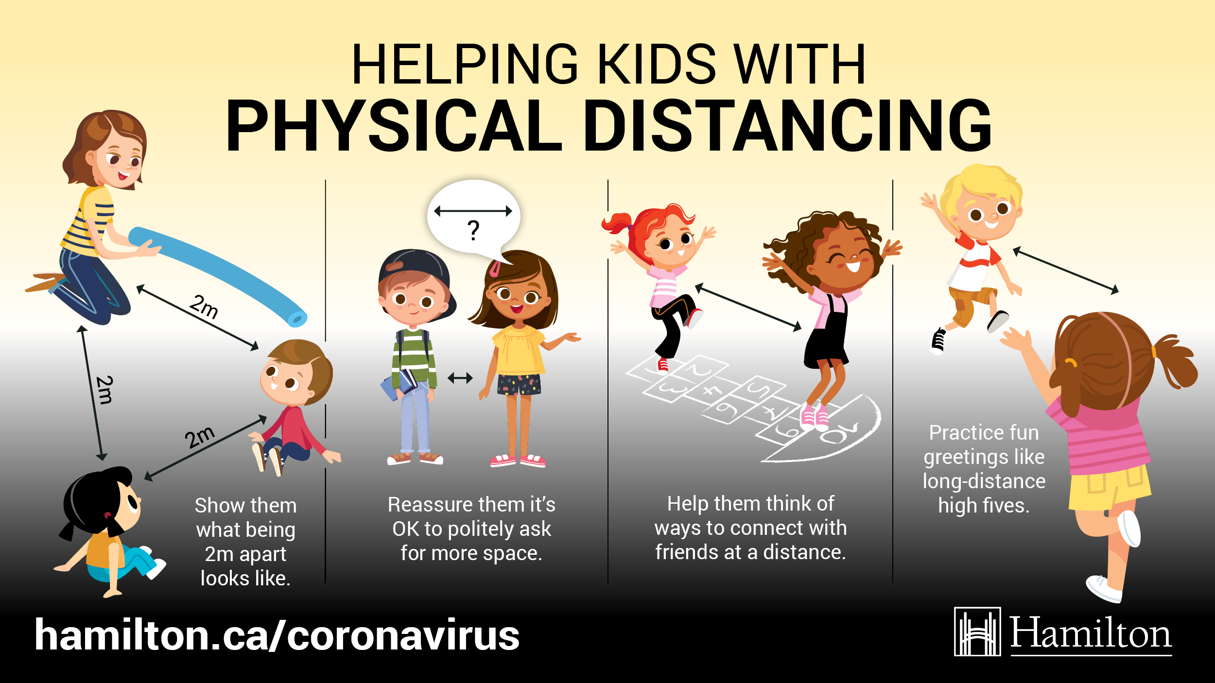 Helping kids understand physical distancing