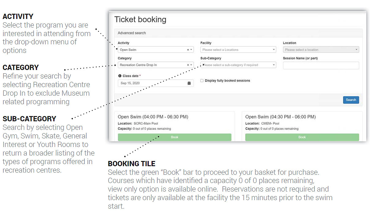 Screen shot of Ticket booking system