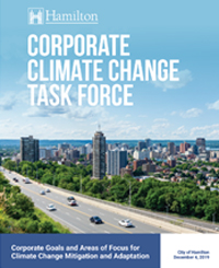 Cover for Corporate Climate Change Task Force report