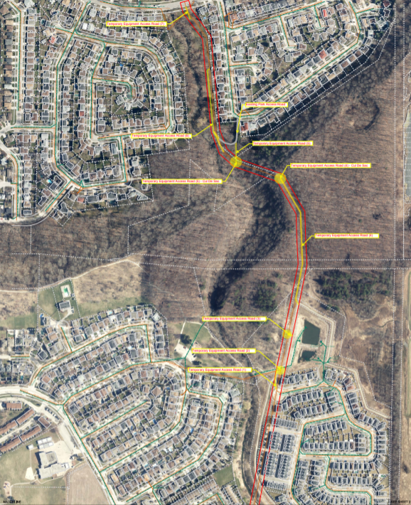 Aerial photograph of Satellite City Sewer Rehabilitation Project