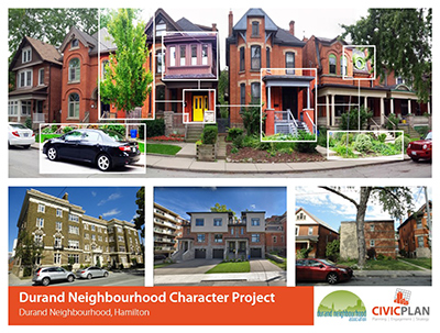 Collection of examples of the Durand Neighbourhood Character Project