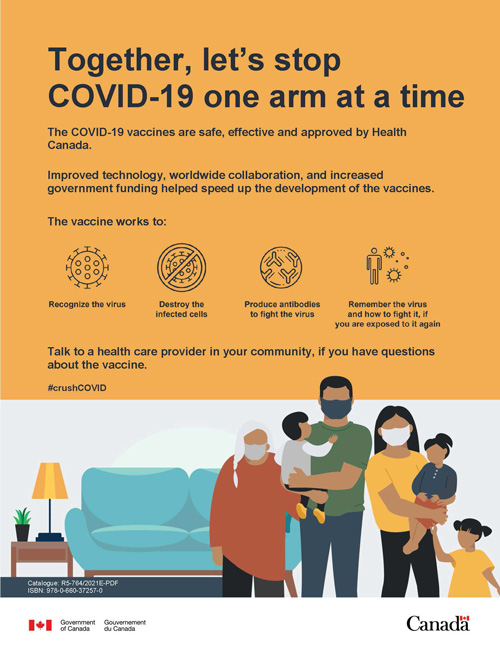 Together, Let's Stop COVID-19 one arm at a time.