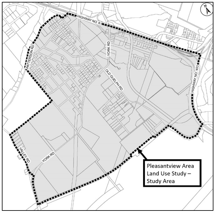 Map of the Pleasantview Area Land Use Study