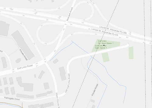 Location map of 1225 Golf Links Road, Ancaster