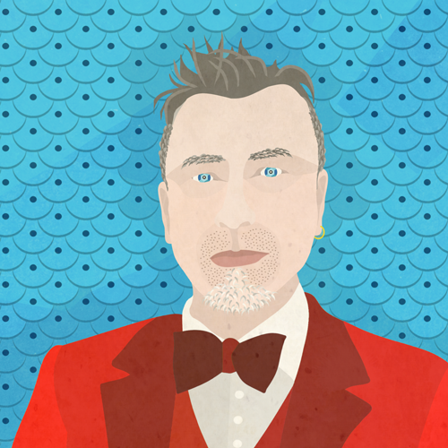 Illustrated Portrait of Andrew McPhail