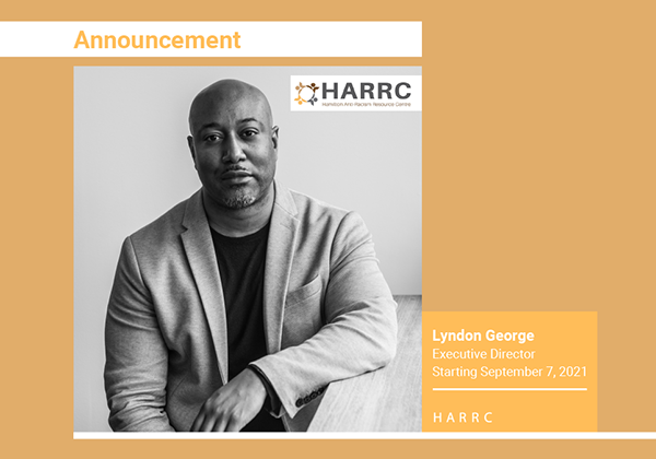 Announcement of Lyndon George as Executive Director for HARRC