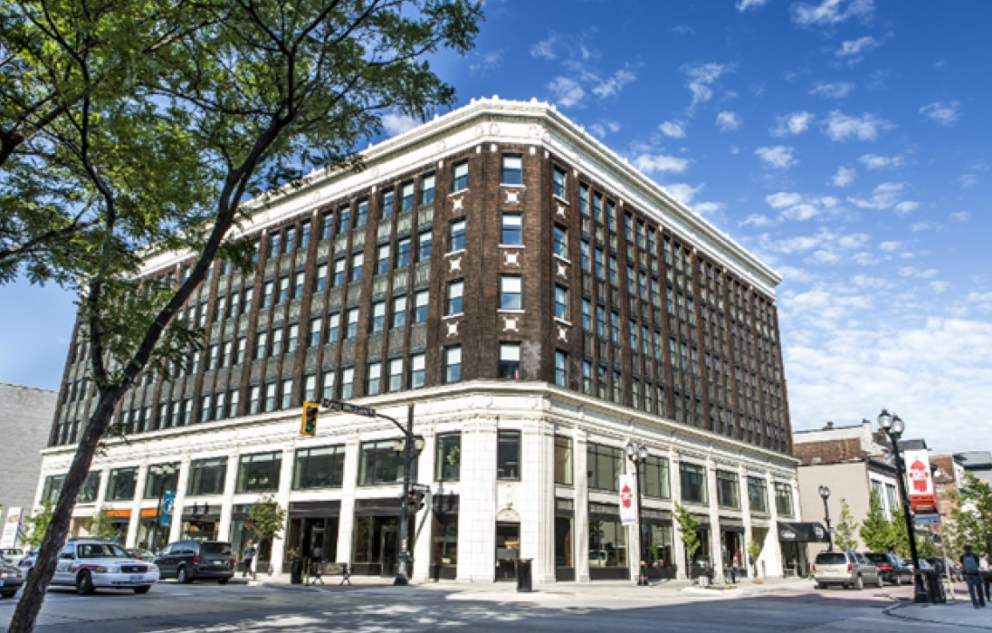 Photo of street view of outside of Lister Block