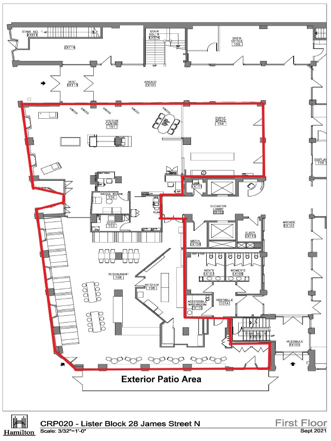 Floor Plan - Layout of First Floor Leased Space at Lister Block