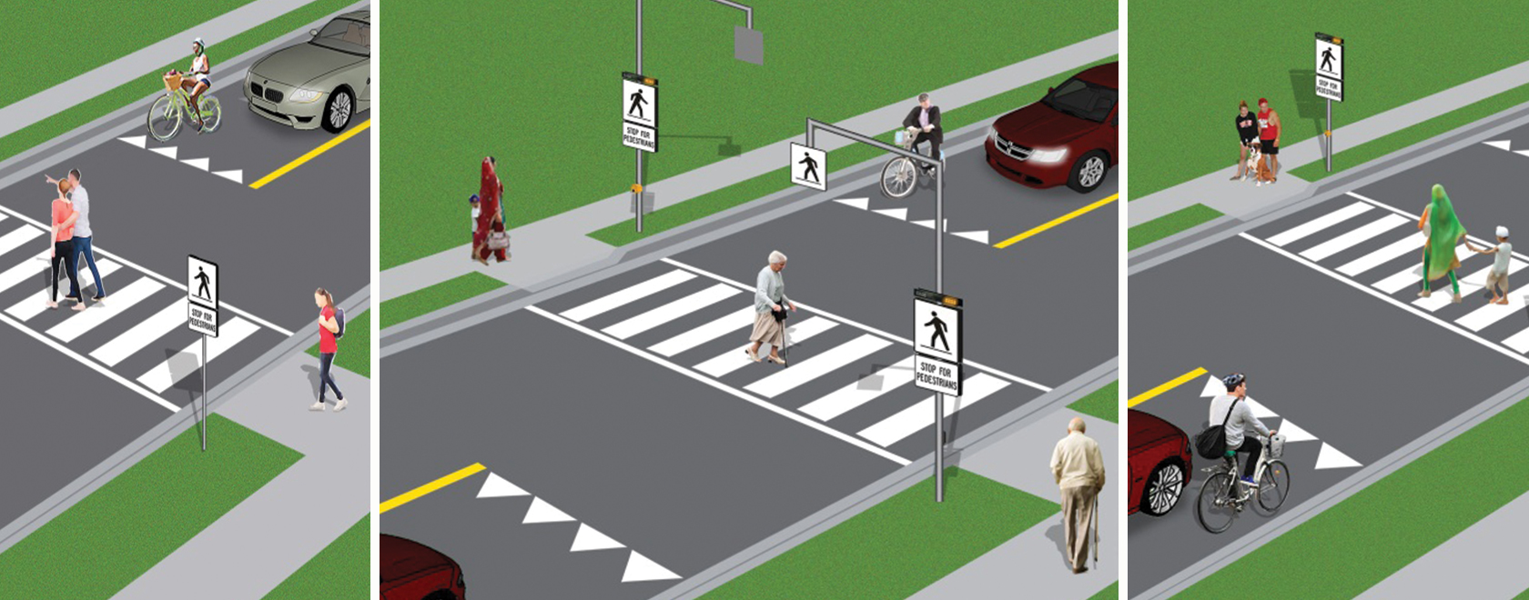 Pedestrian Crossing Hero
